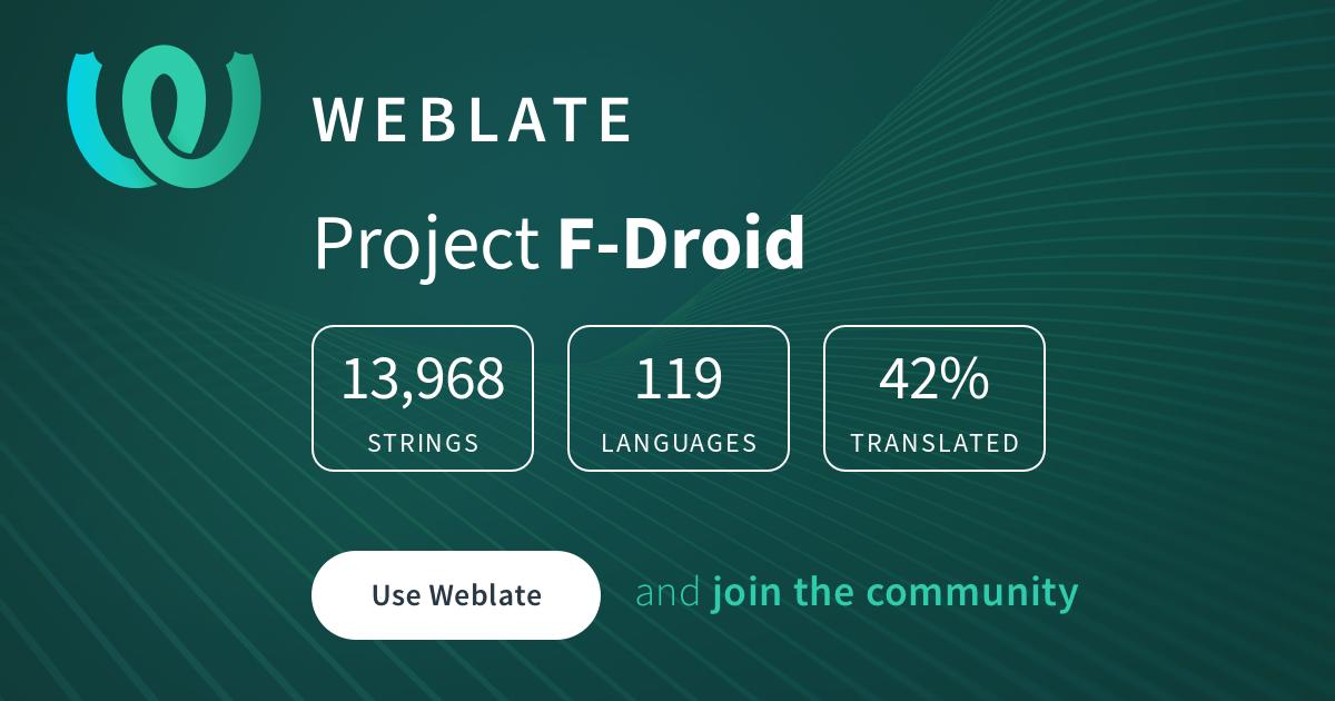 F-Droid/F-Droid @ Hosted Weblate